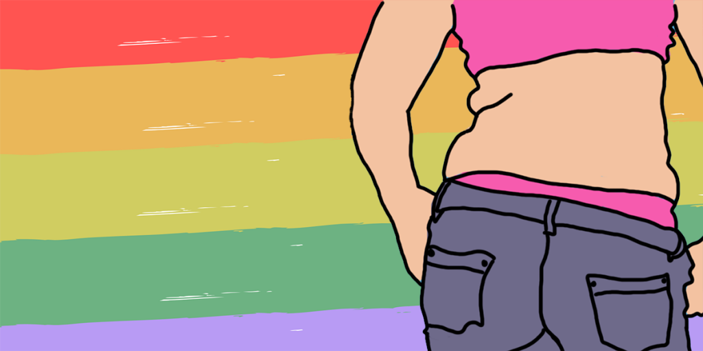 LGBT Person with rainbow flag