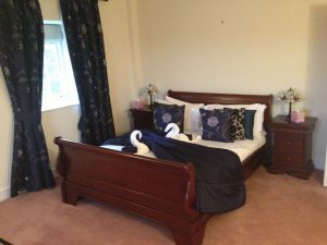 A room at Promis residential drug treatment Kent