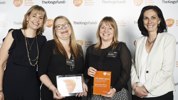Suffolk Family Carers at the GSK IMPACT Awards 2019