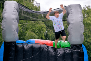 obstacle course at the recovery games