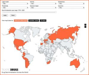Click to view the interactive map of global drug decriminalisation.