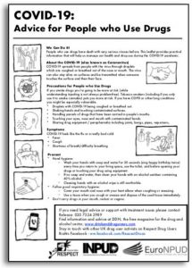 Harm Reduction Information on COVID-19
